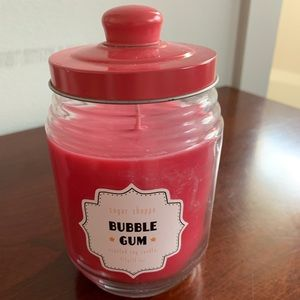Accents - Hot Pink Soy Candle with Bubble Gum Scent!
